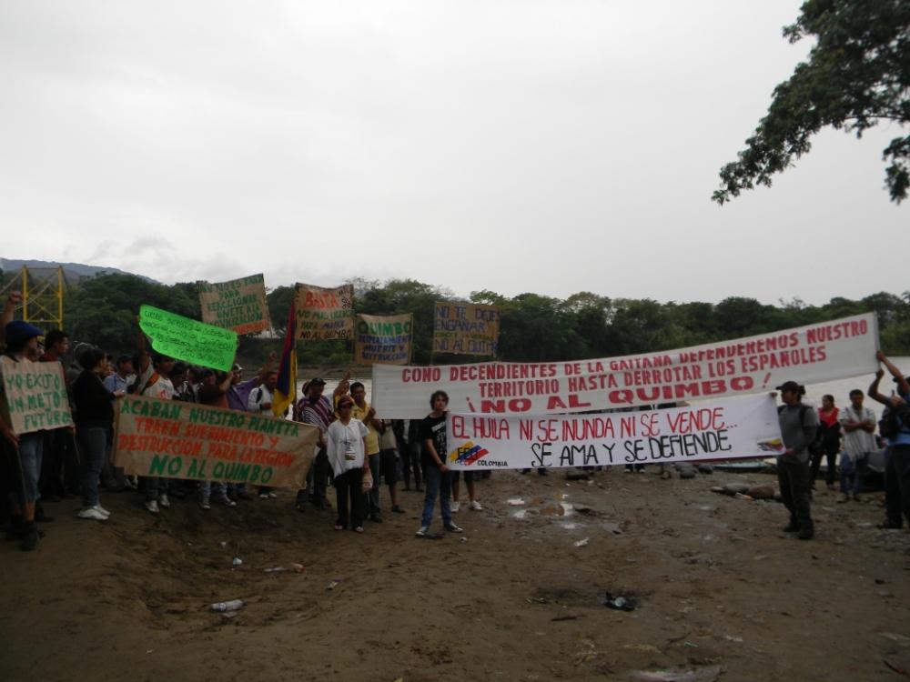 No a la hidroeléctrica el Quimbo (3/4)